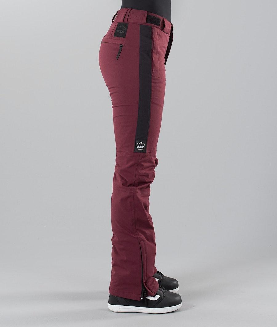 Dope Con 18 Pantaloni da Snowboard Donna Burgundy