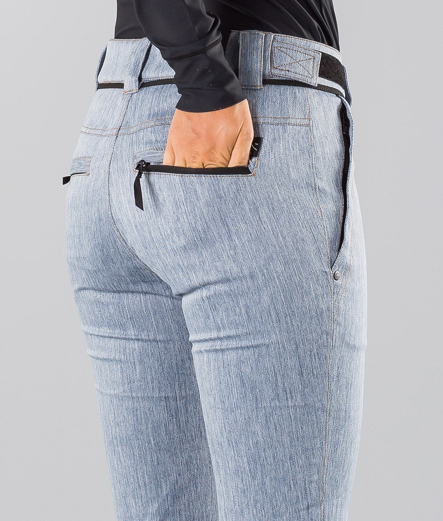 Dope Tigress 18 Pantalon de Snowboard Femme Blue Denim