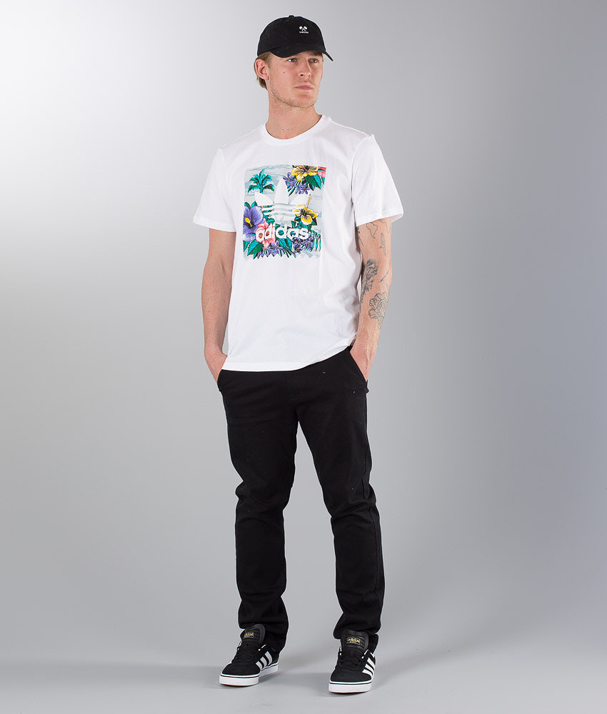 1c8a171b Adidas Skateboarding Bb Floral T-shirt White/Multicolor - Ridestore.com