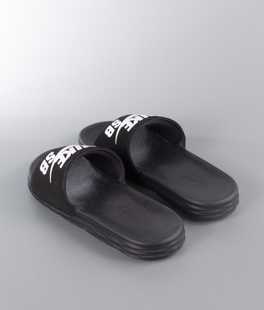 d843c977ea2c Nike Benassi Solarsoft Sandal Black White - Ridestore.com