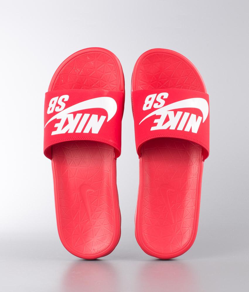 cute cheap best value shoes for cheap Nike Benassi Solarsoft Sandal University Red/White