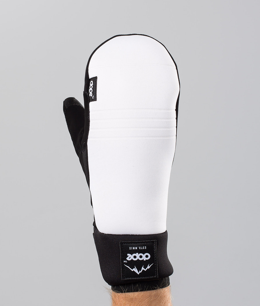 Dope Signet Mitt Ski Gloves White/Black