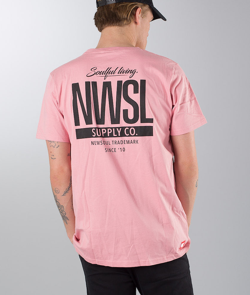 Newsoul Face T-Shirt Washed Pink