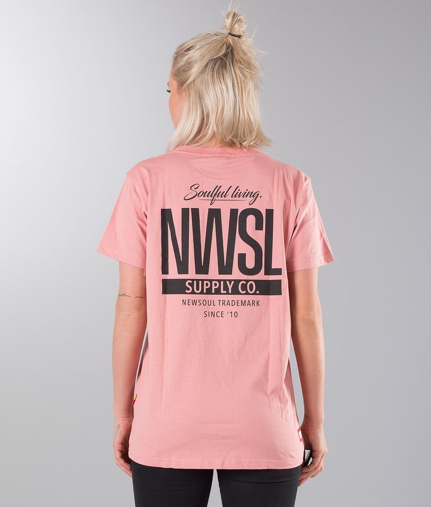Newsoul Face Unisex T-shirt Washed Pink