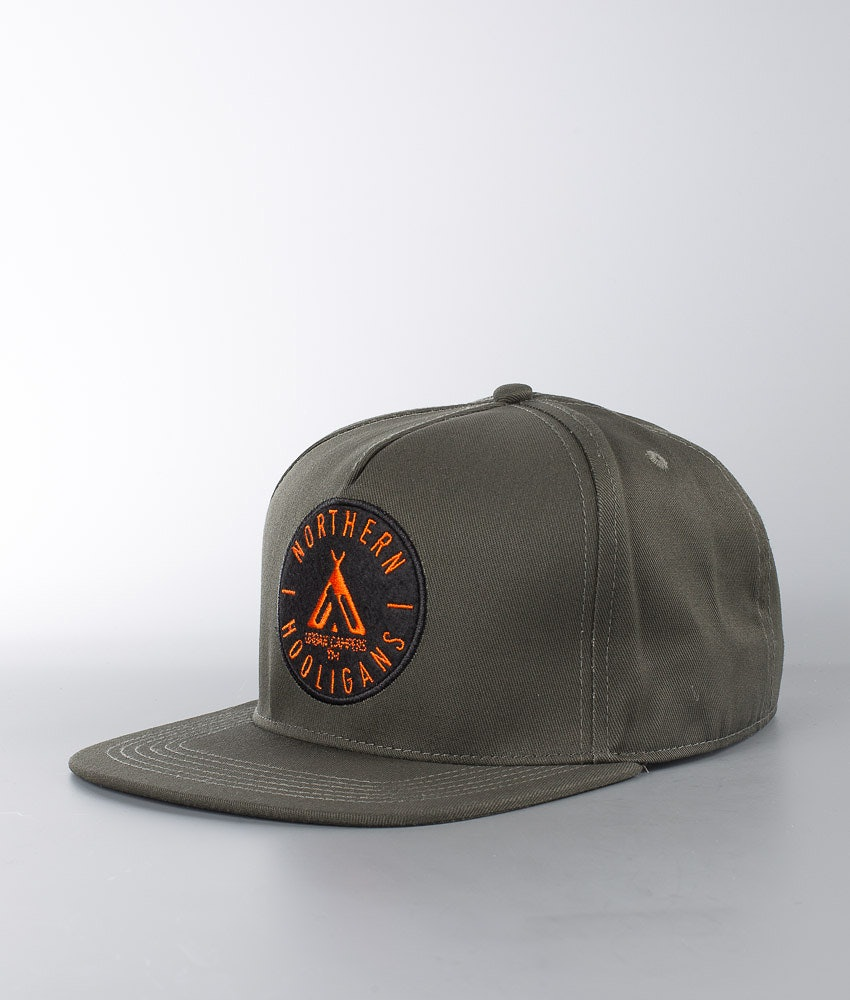 Northern Hooligans Urban Campers Snapback Caps Woods Green
