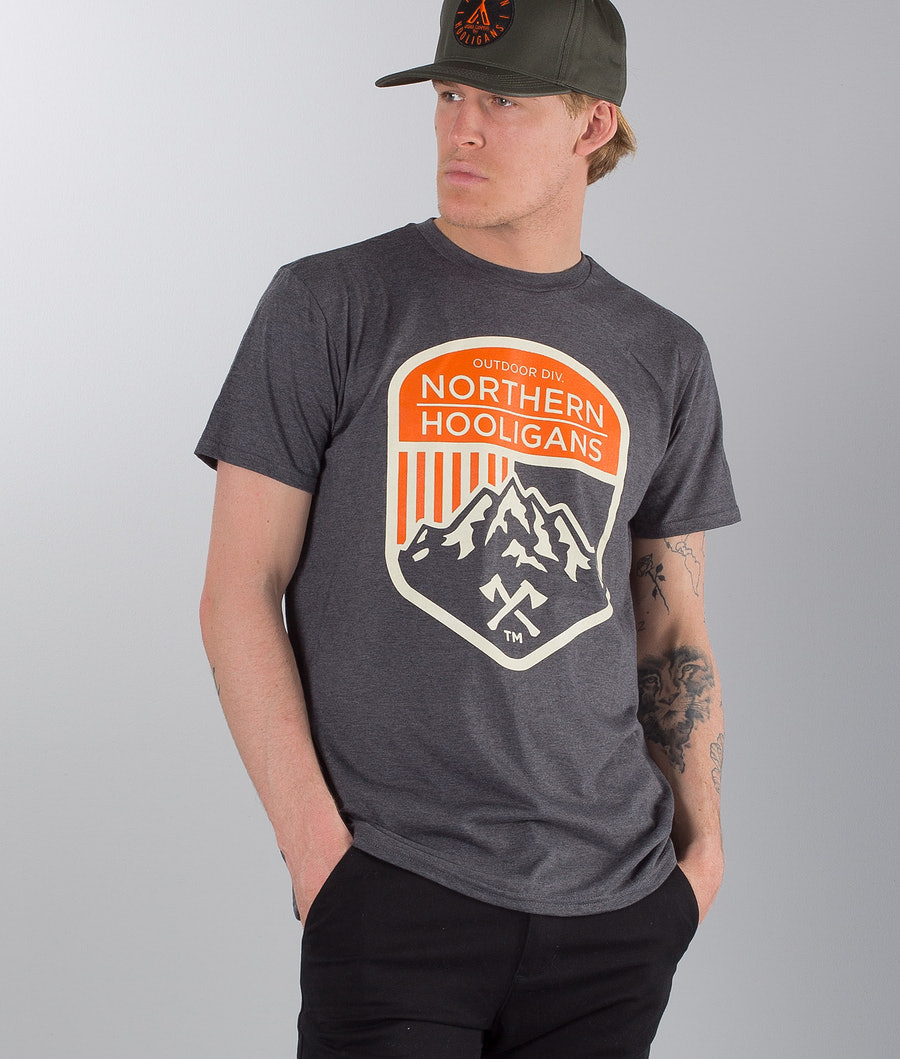 Northern Hooligans Outdoor Div. T-paita Heather Dark Grey