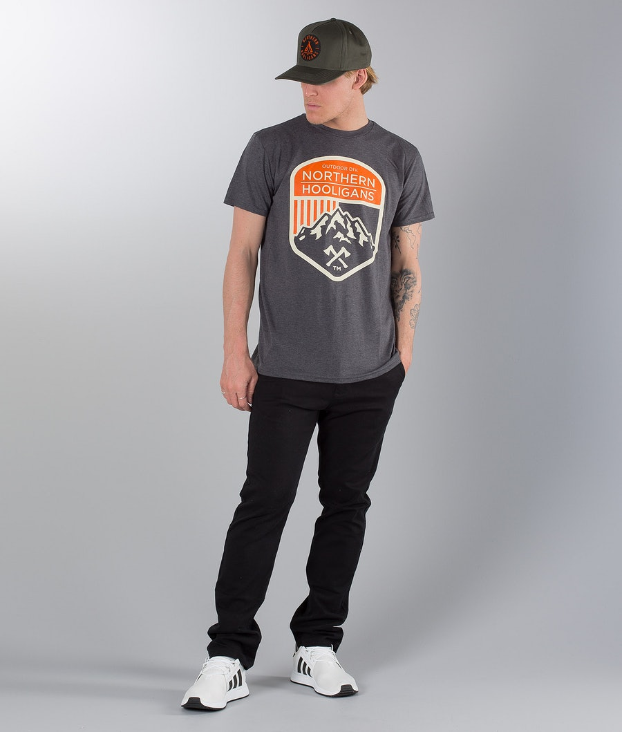 Northern Hooligans Outdoor Div. T-shirt Heather Dark Grey