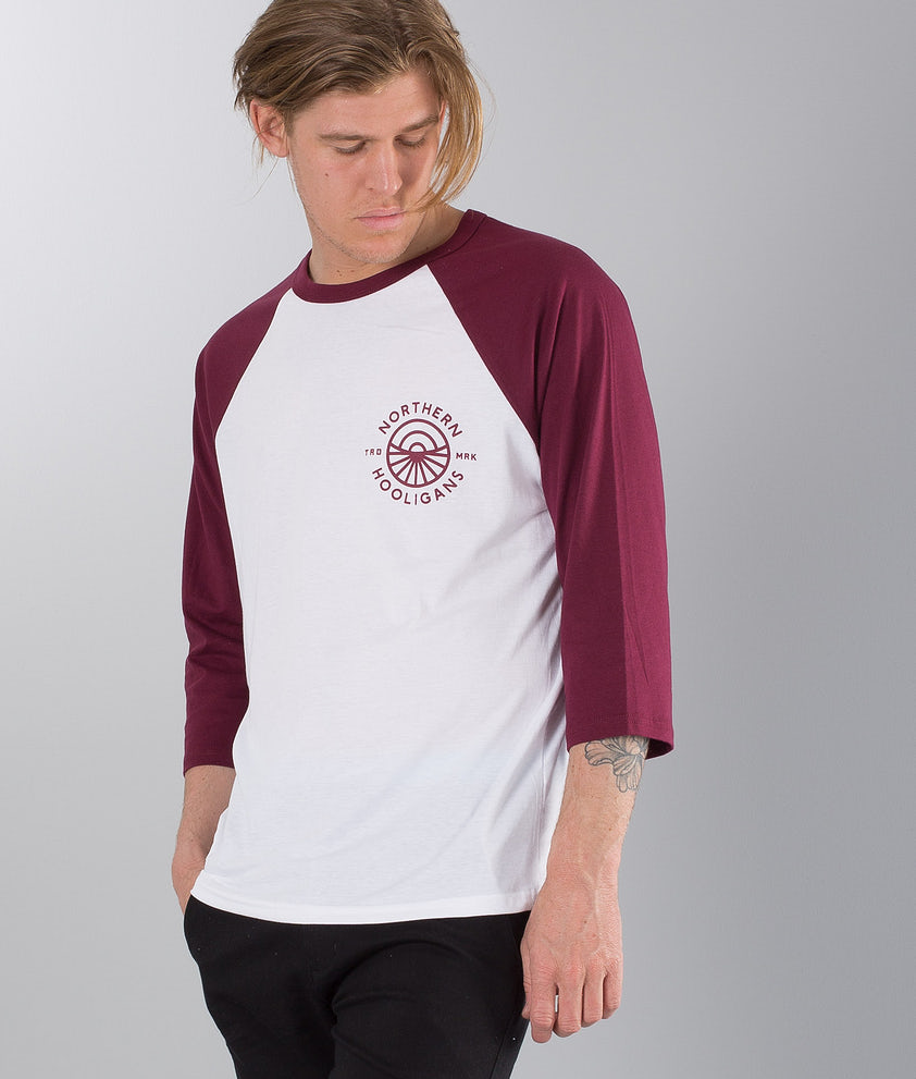 Northern Hooligans Artic Circle Longsleeve Burgundy/White