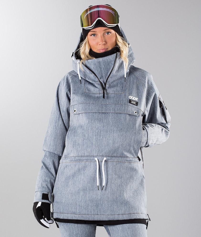 Dope Annok W 18 Snowboard Jacket Blue Denim