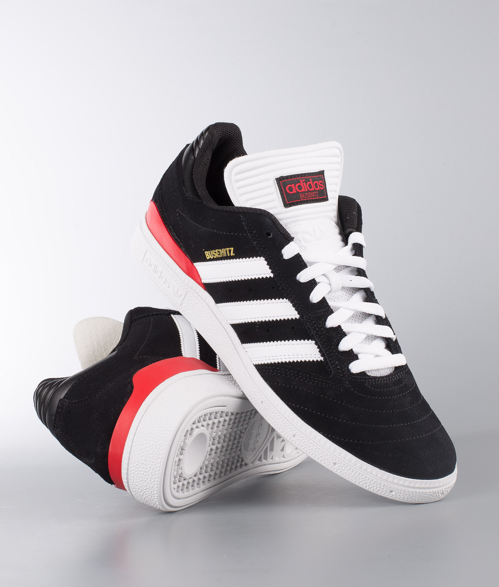 8b49b2916dcaa Adidas Skateboarding Busenitz Shoes Core Black/Ftwr White/Scarlet ...