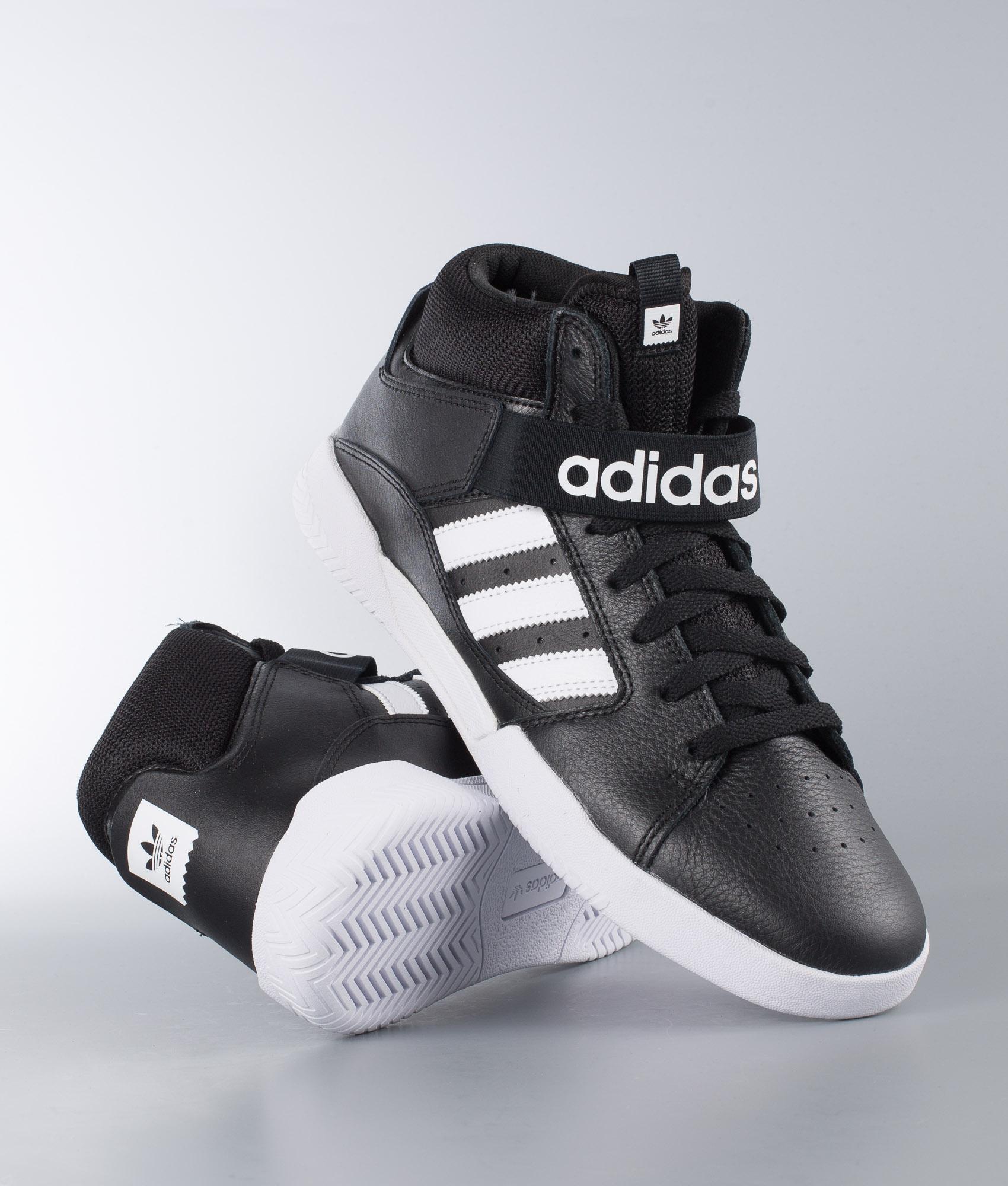 Adidas VRX Mid Skate Shoes Core BlackWhiteWhite  Skate