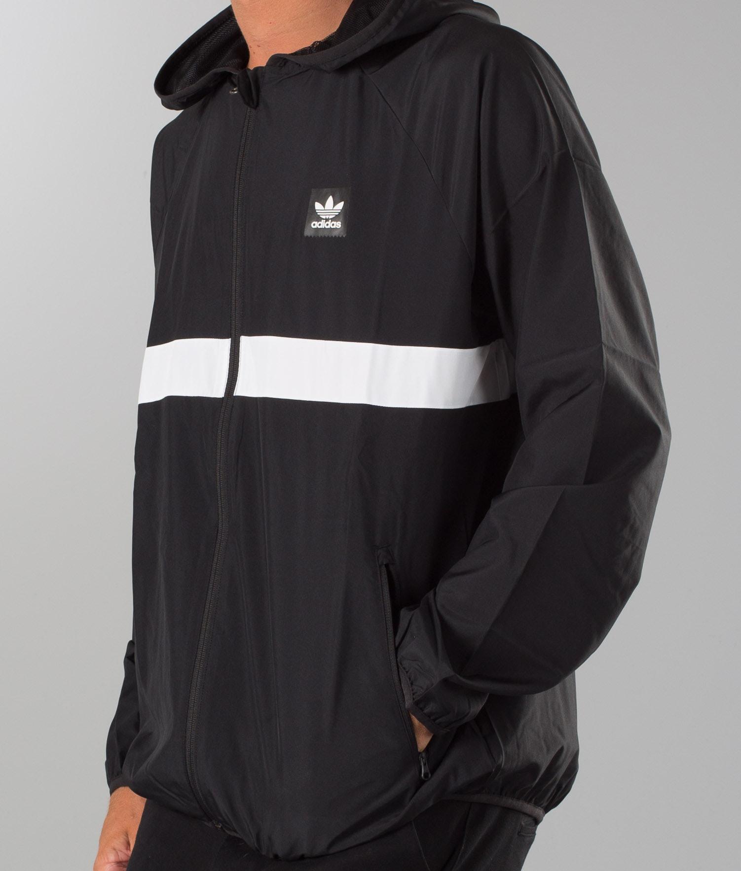 0a289c6bf Adidas Skateboarding Blackbird Wind Jacket Black/White - Ridestore.com