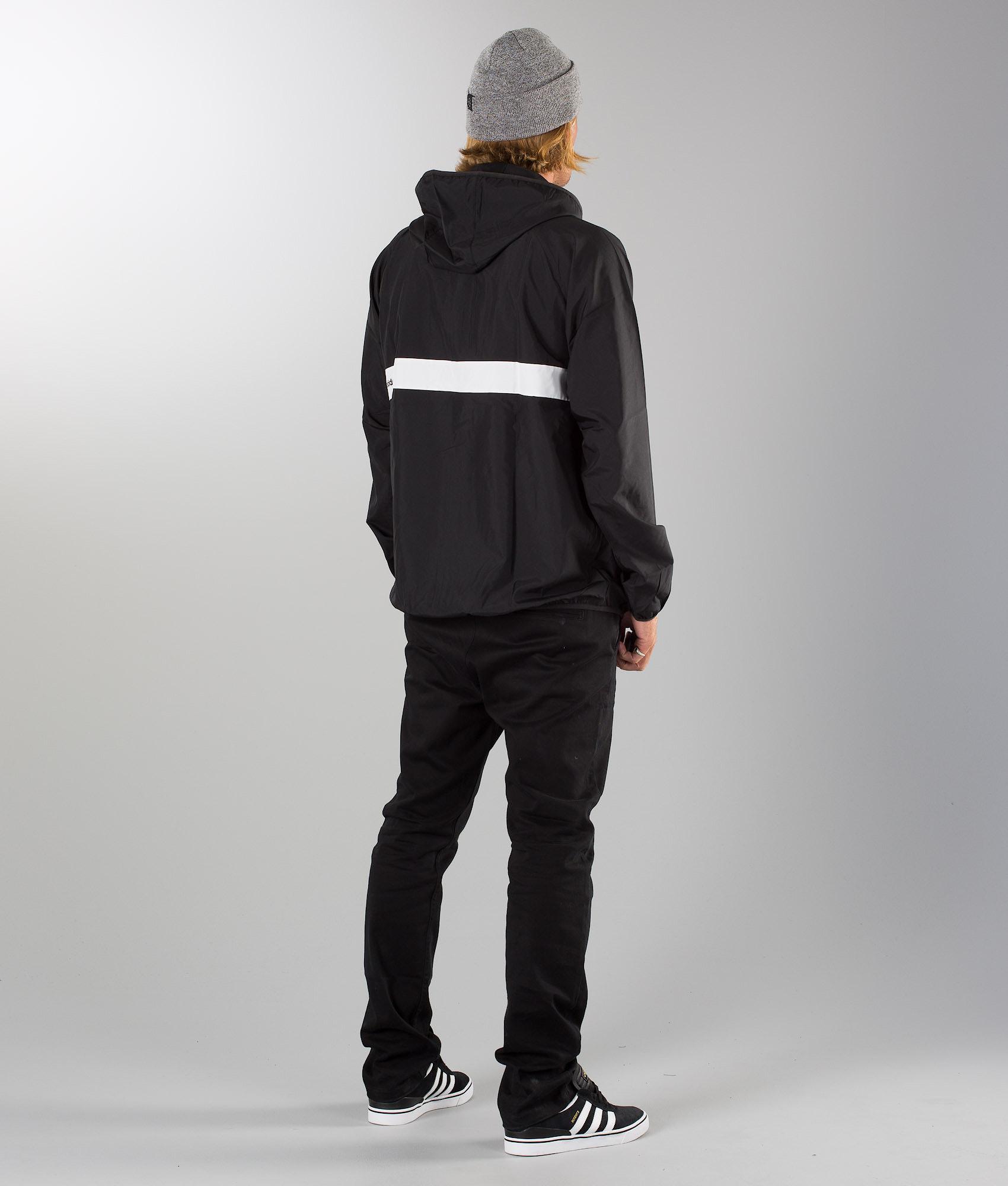 e5b78518 Adidas Skateboarding Blackbird Wind Jacket Black/White - Ridestore.com