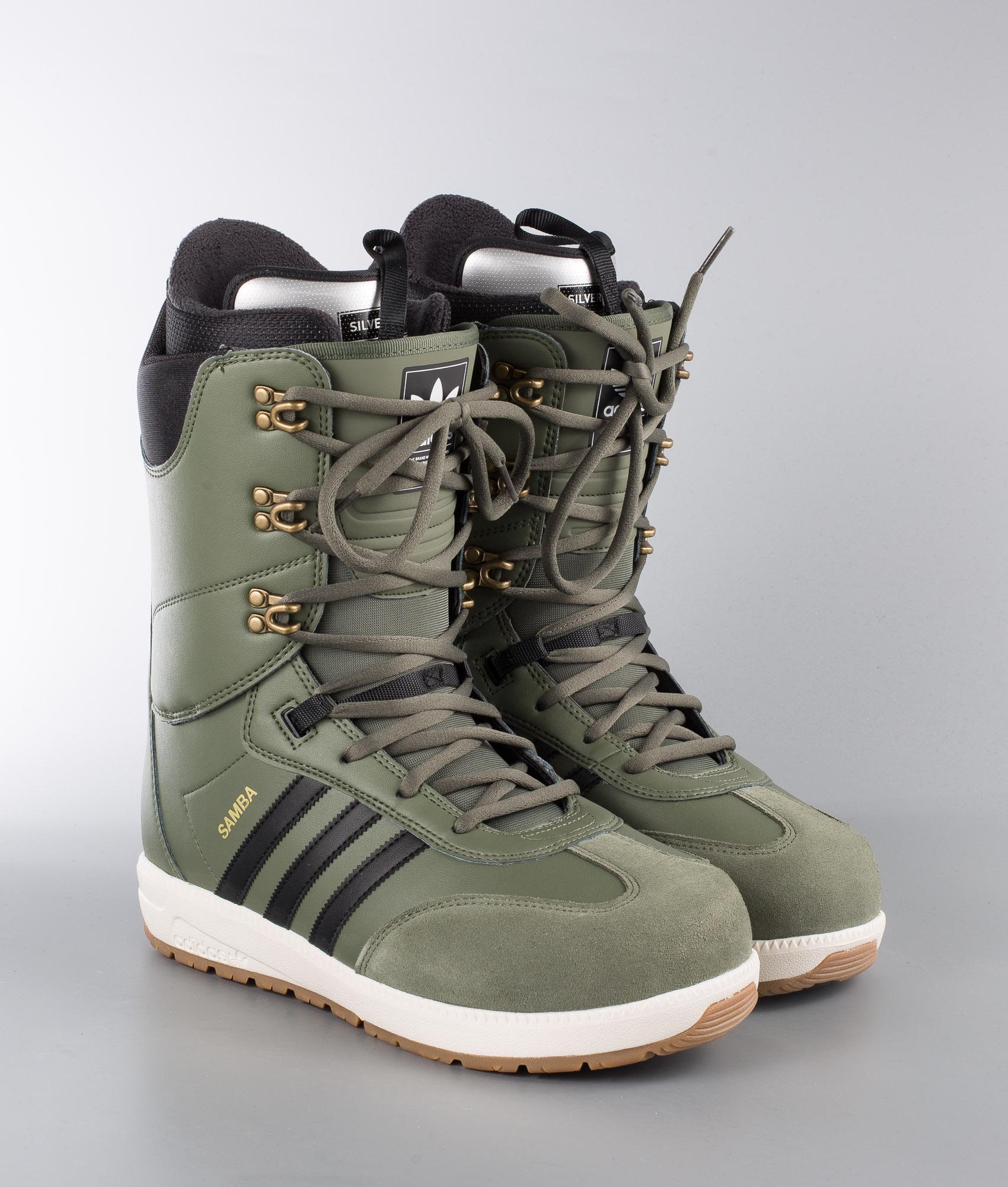 Adidas Snowboarding Samba Adv Boots Base GreenCore BlackOwhite