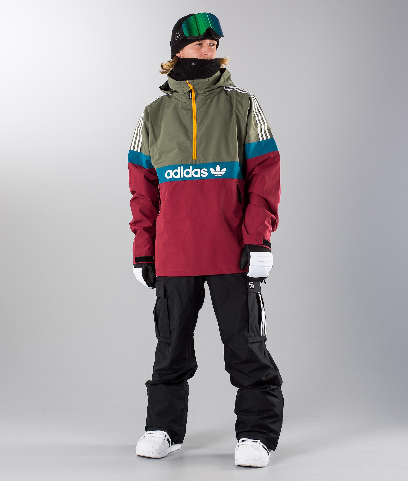 Adidas Snowboarding Blackbird Snowboardjacke Noble Maroon Base Green ... 58960e35af