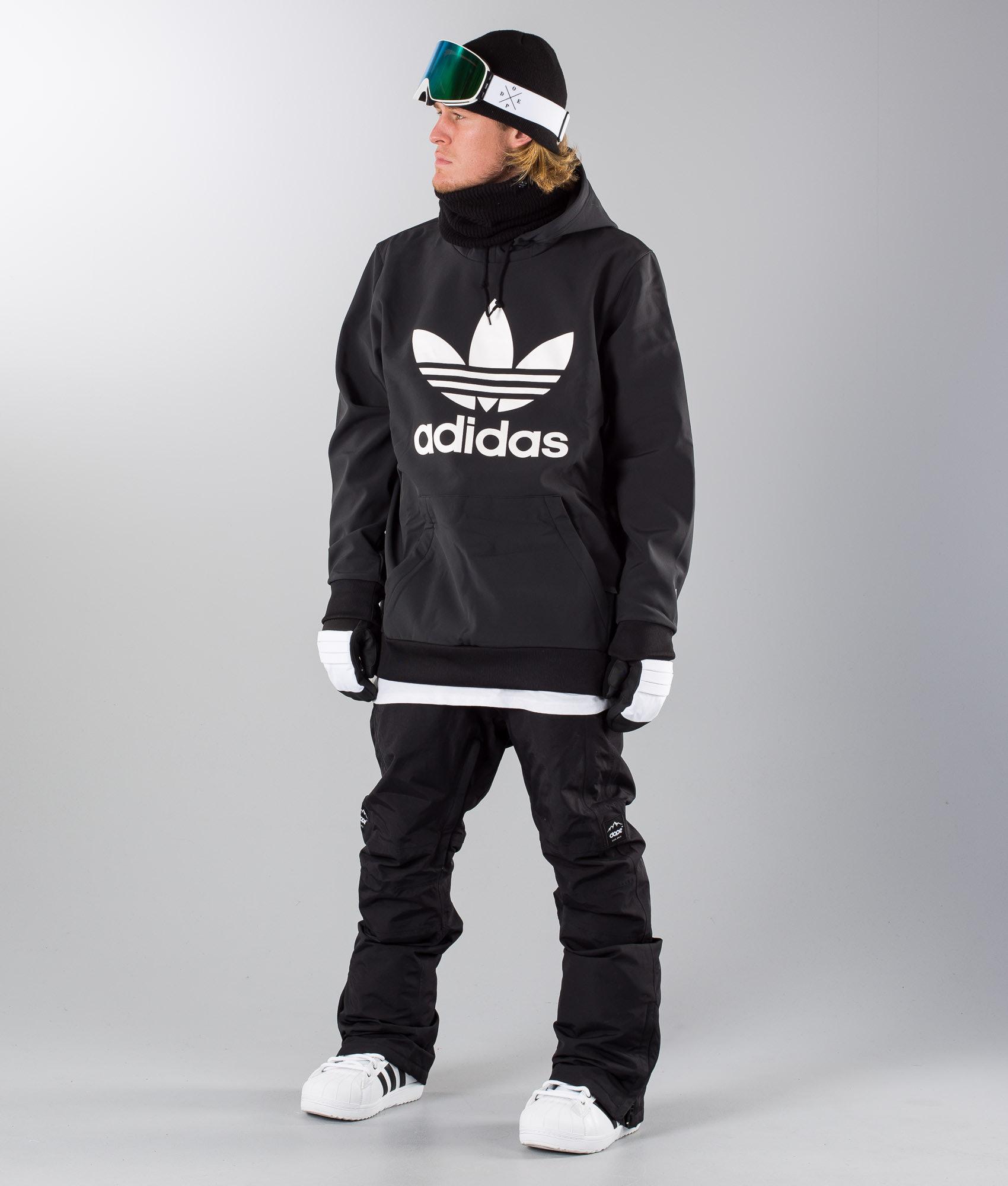 9e0eabe4434e Adidas Snowboarding Team Tech Snowboard Jacket Black White ...