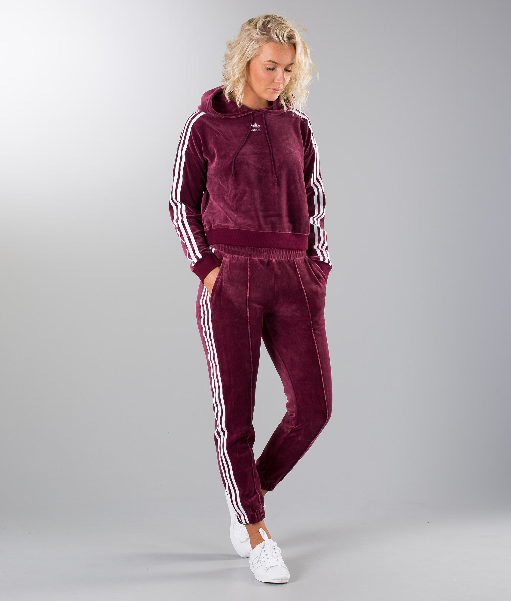 Adidas Originals Cropped Huppari Maroon - Ridestore.fi ea346c9df7