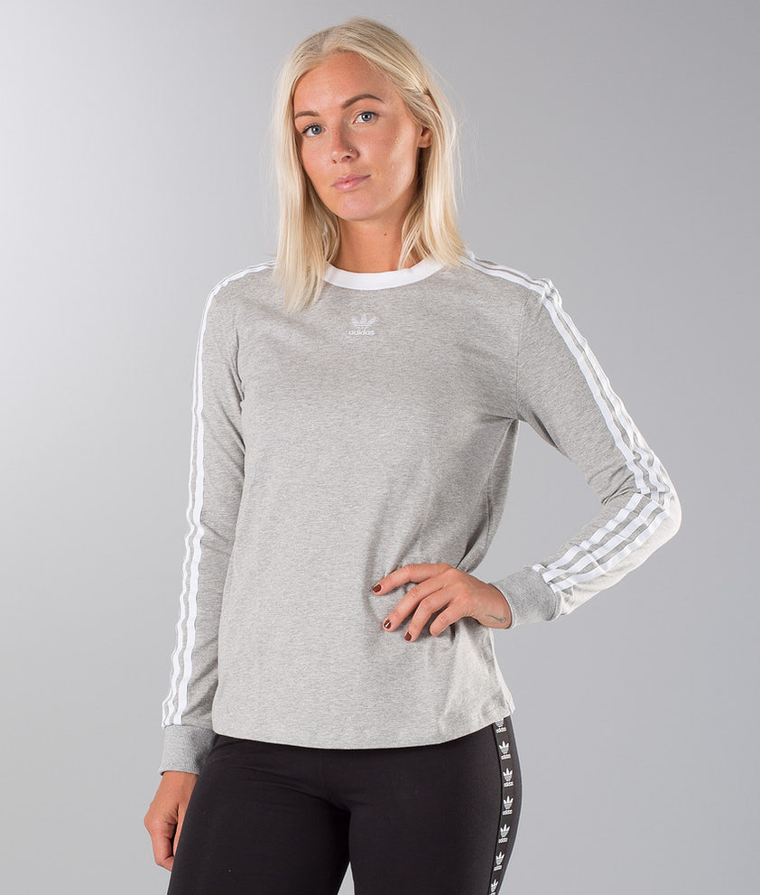 Adidas Originals 3 Stripes Longsleeve Medium Grey Heather