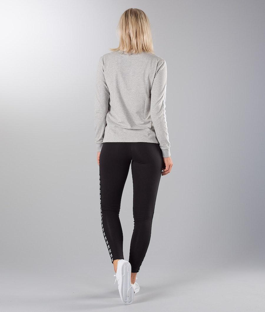 Adidas Originals 3 Stripes Longsleeve Femme Medium Grey Heather