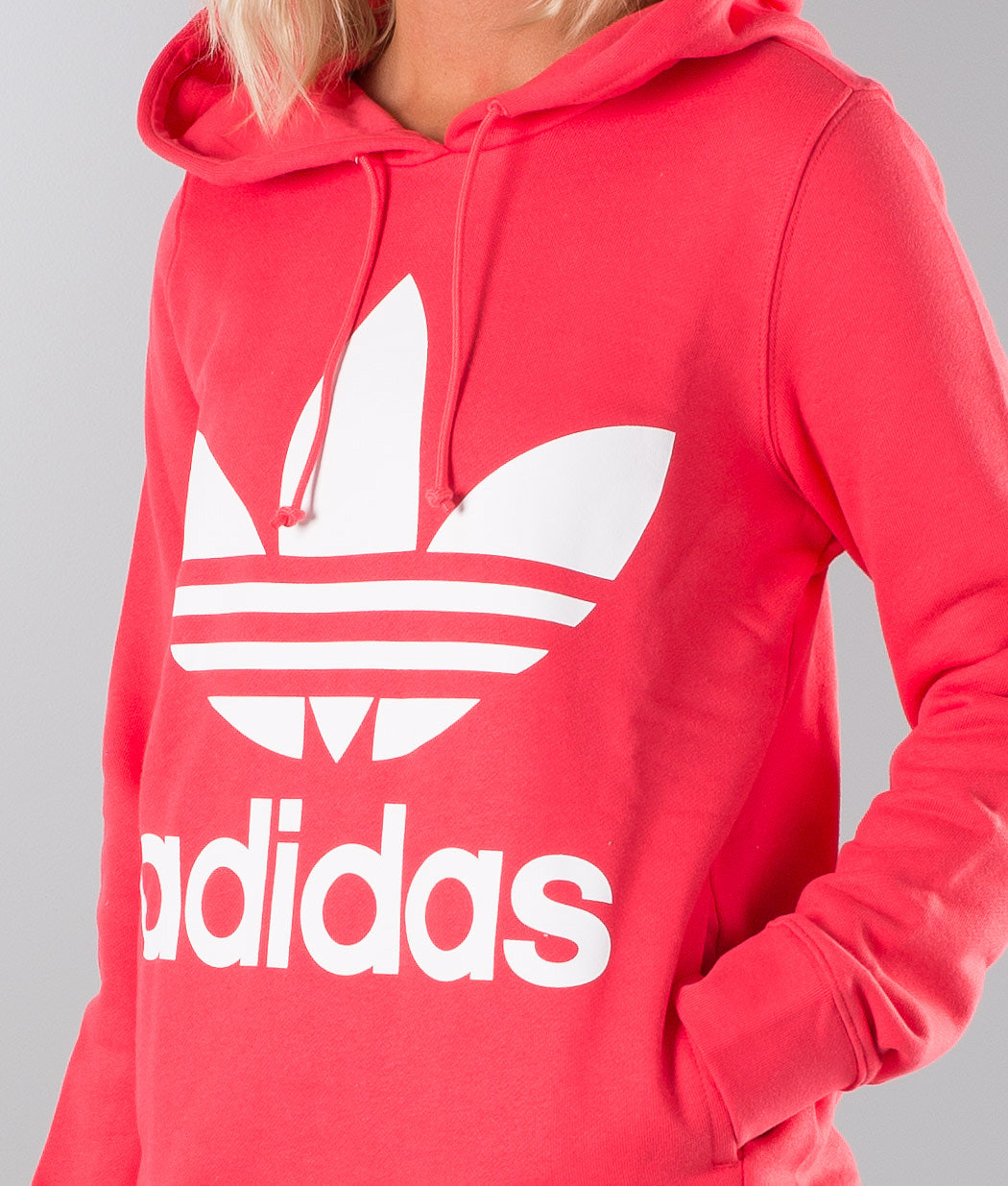 Adidas Originals Trefoil Huppari Core Pink - Ridestore.fi bcf9f5e802
