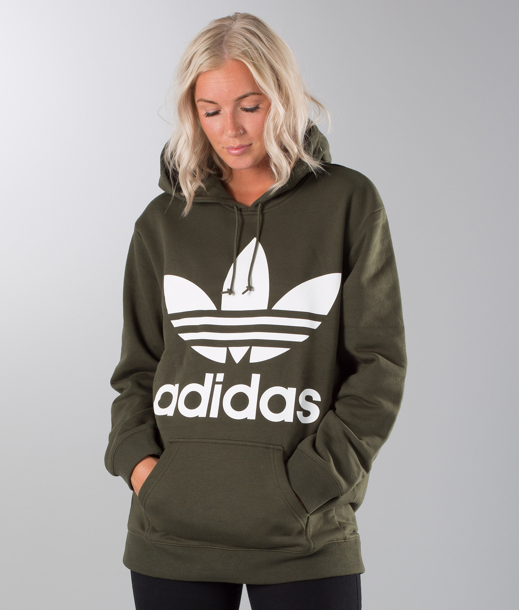 Adidas Originals Boyfriend Trefoil Hood Night Cargo - Ridestore.com 9028fffe8d