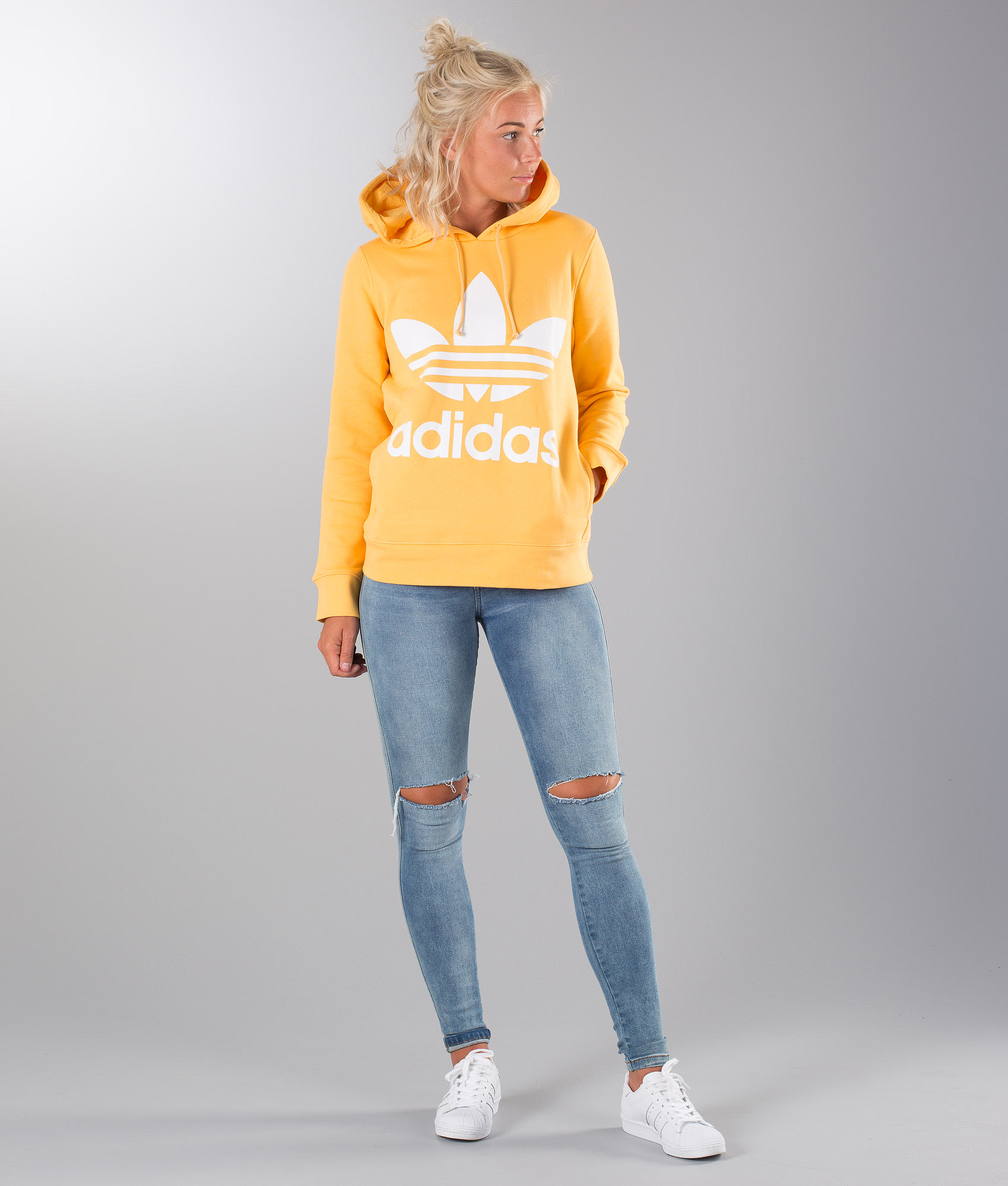 77dba0ce Adidas Originals Trefoil Hoodie Chalk Orange - Ridestore.com