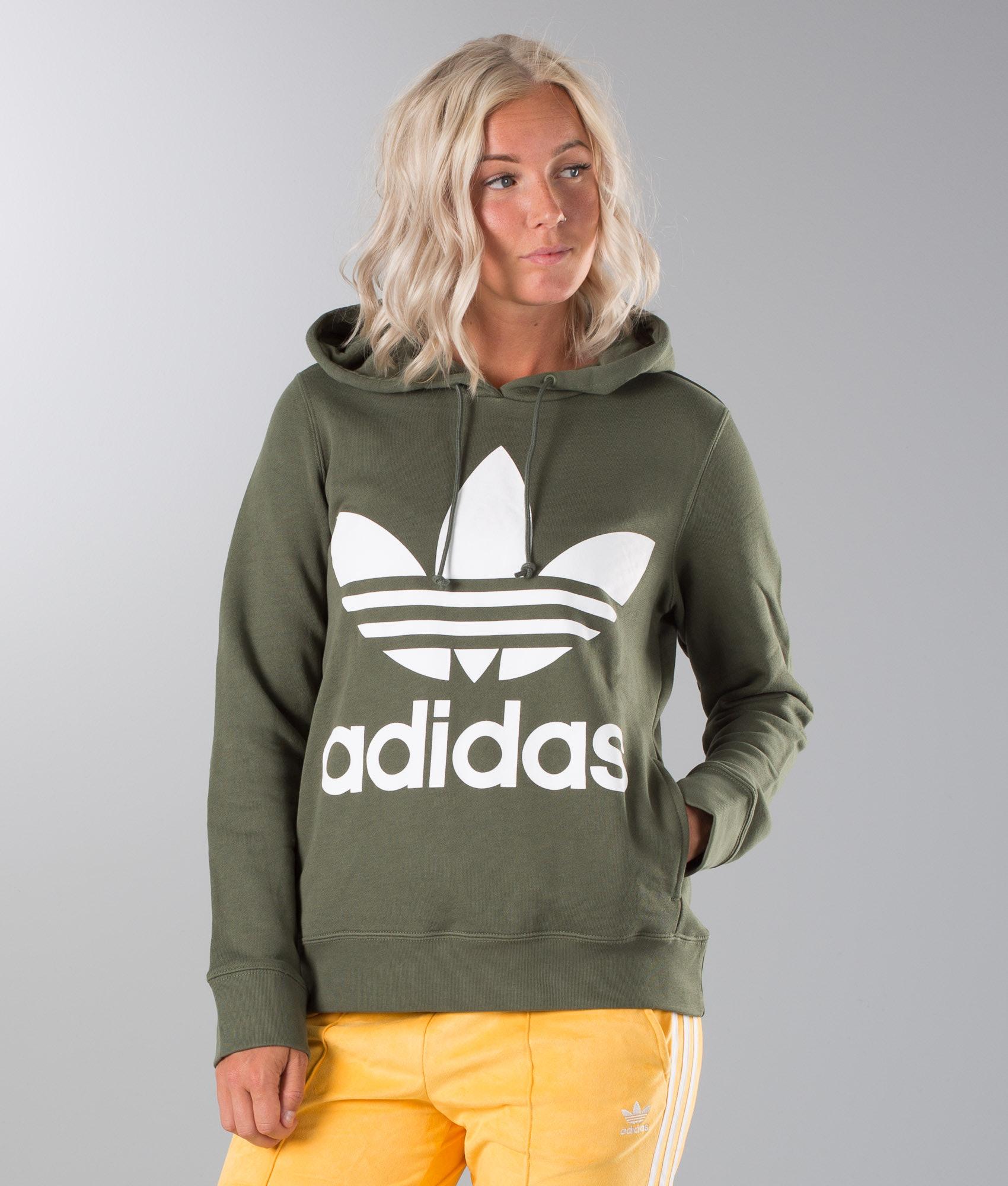 Adidas Originals Boyfriend Trefoil Hoodie Night Cargo - Ridestore.de 8b2c3e494e