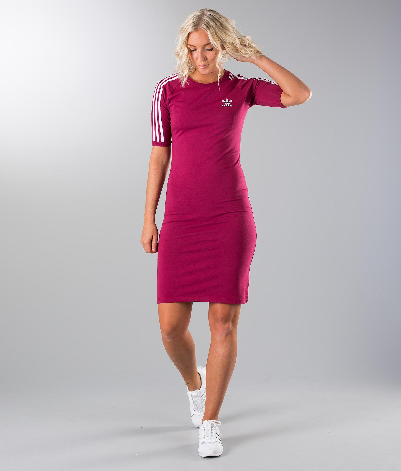 1ed0f8035bb Adidas Originals 3 Stripes Dress Dress Mystery Ruby F17 - Ridestore.com
