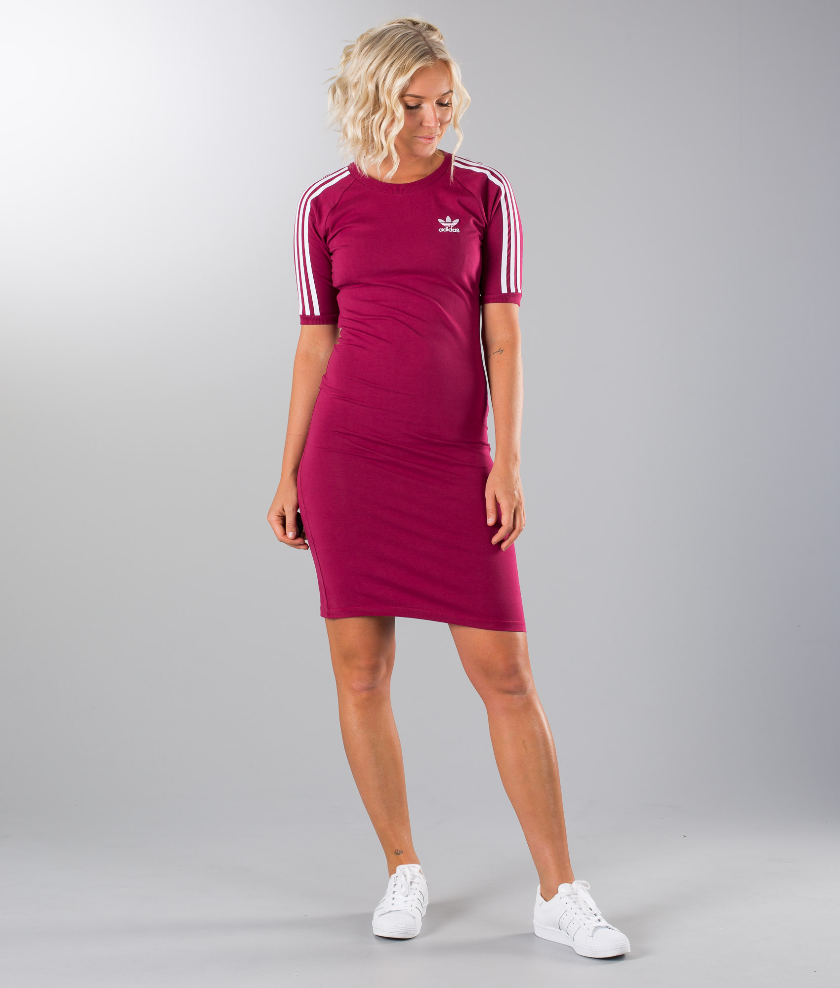 Adidas 3 Stripes F17 Kjole Ridestore Ruby no Mystery Originals Dress rwr6g