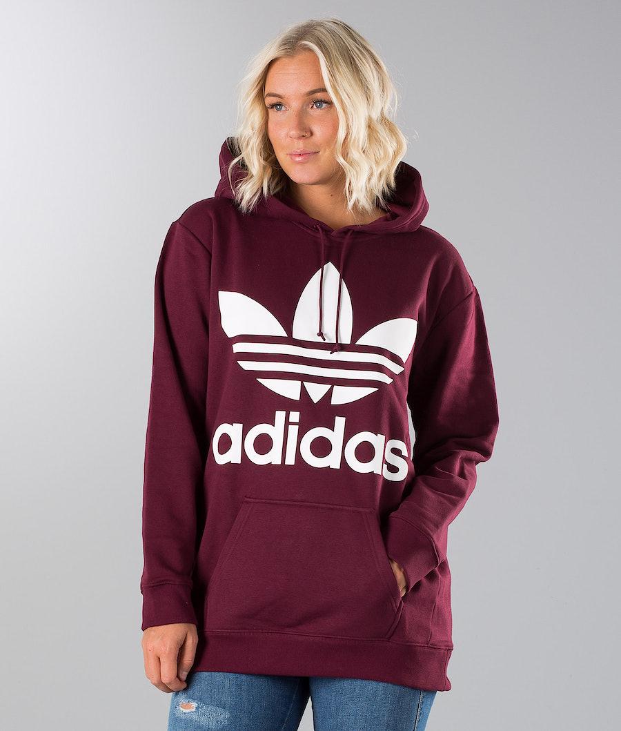 Adidas Originals Boyfriend Trefoil Hood Maroon