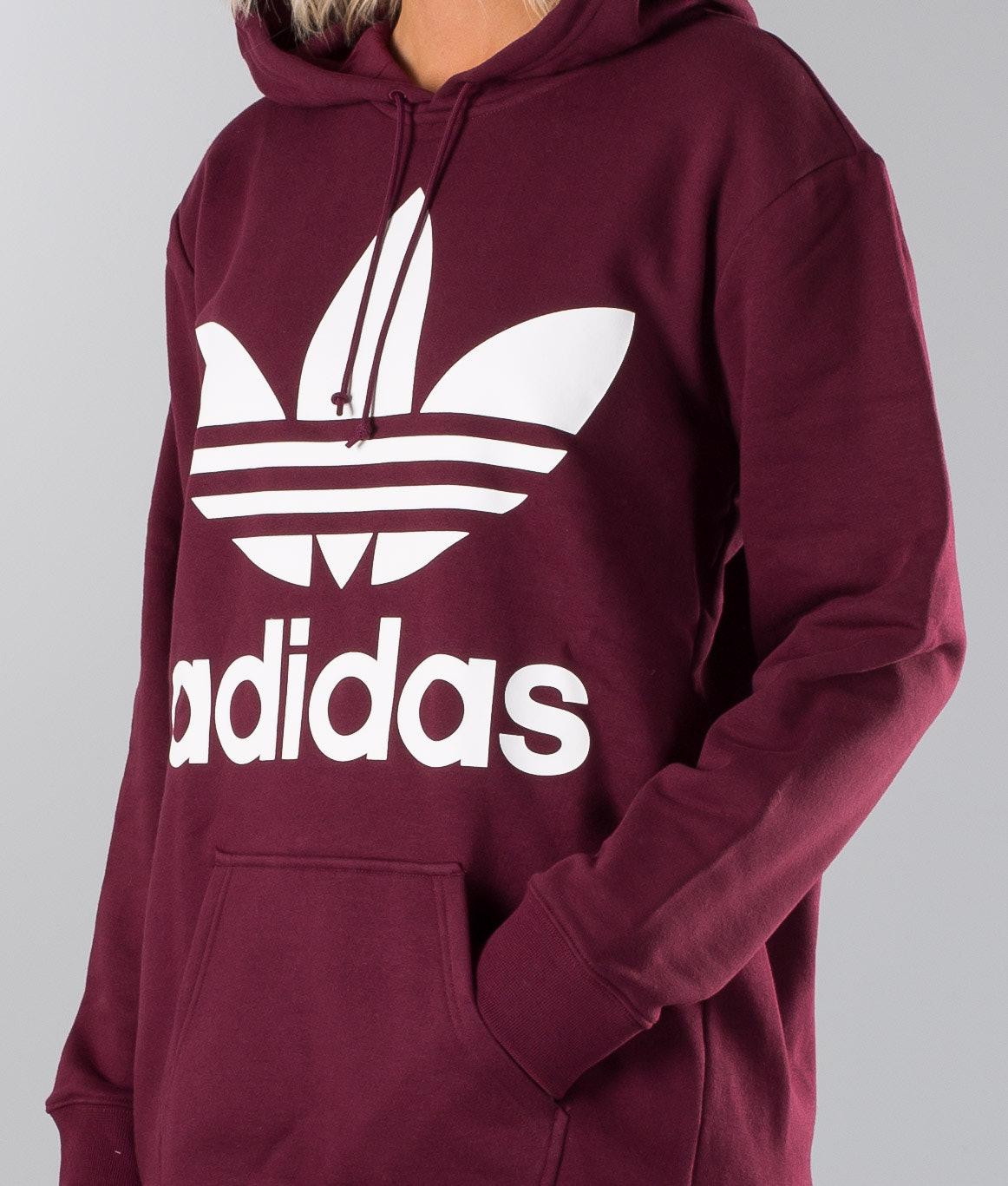 Adidas Originals Boyfriend Trefoil Hood Maroon - Ridestore.com 37485ecc35
