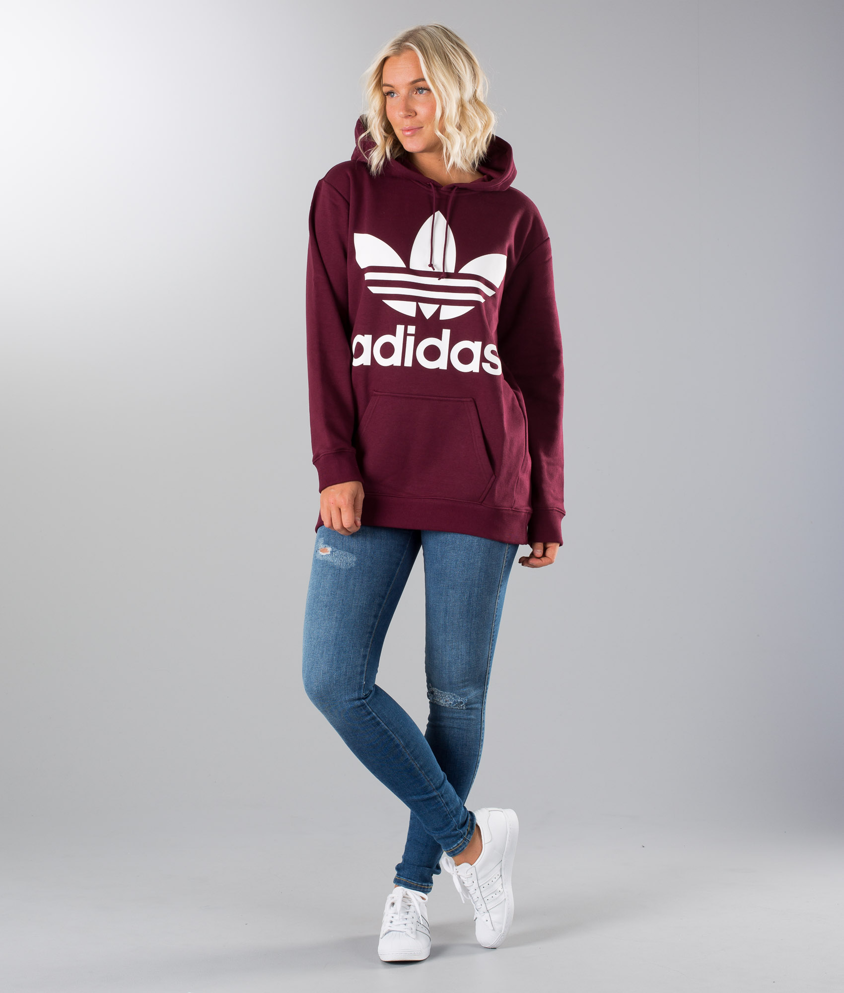 adidas Originals Trefoil Hoodie Maroon N94d2079 | ask