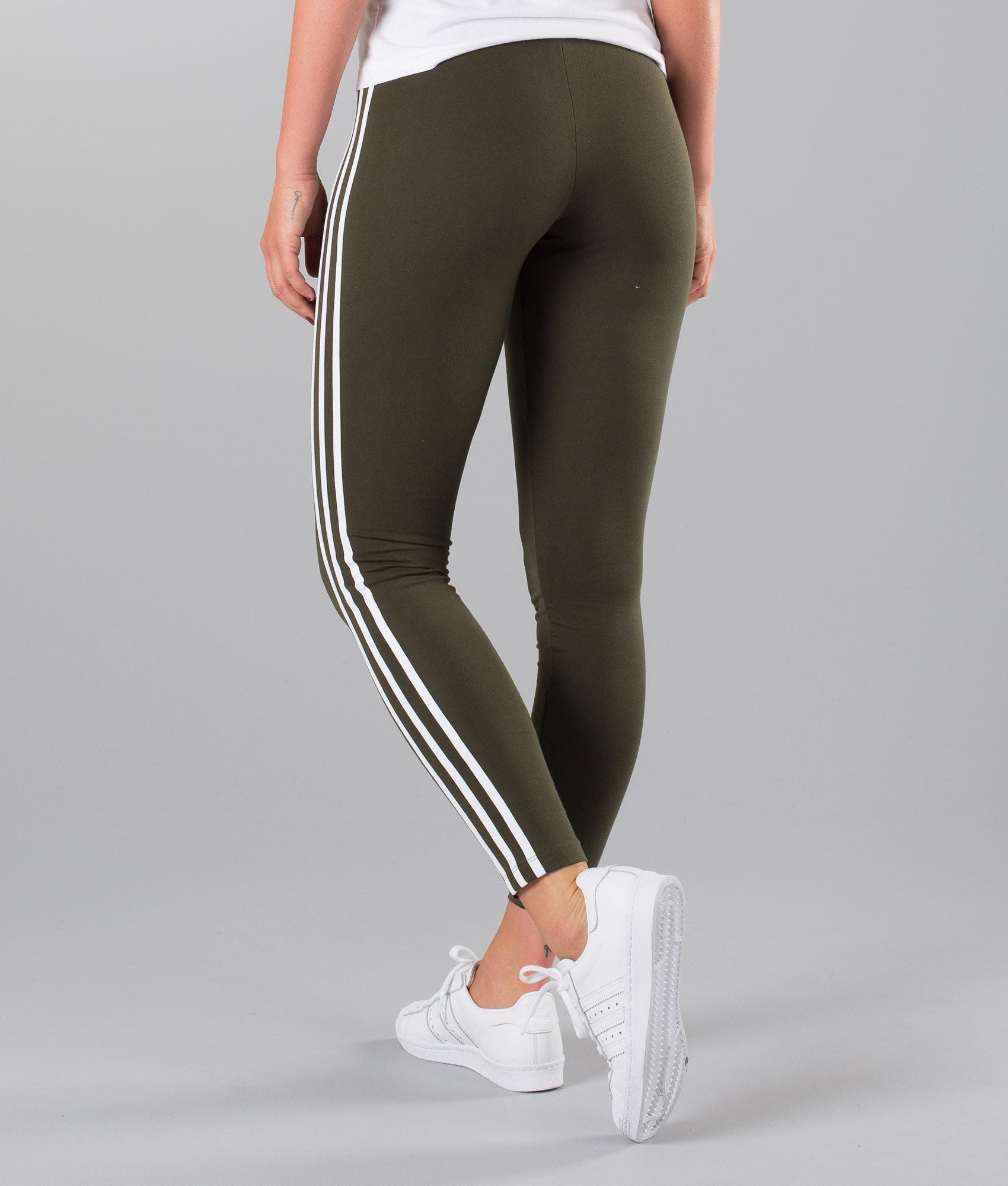 Adidas Originals 3 Stripe Leggings Night Cargo - Ridestore.com 01b7d835550ef