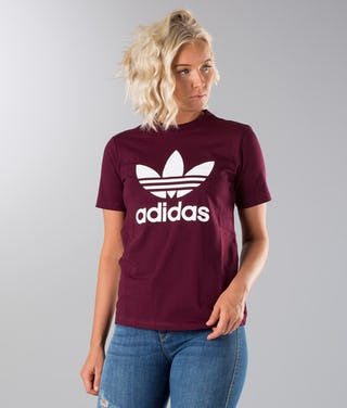 bästa pris beställa online senast Adidas Originals Trefoil T-shirt Maroon - Ridestore.com
