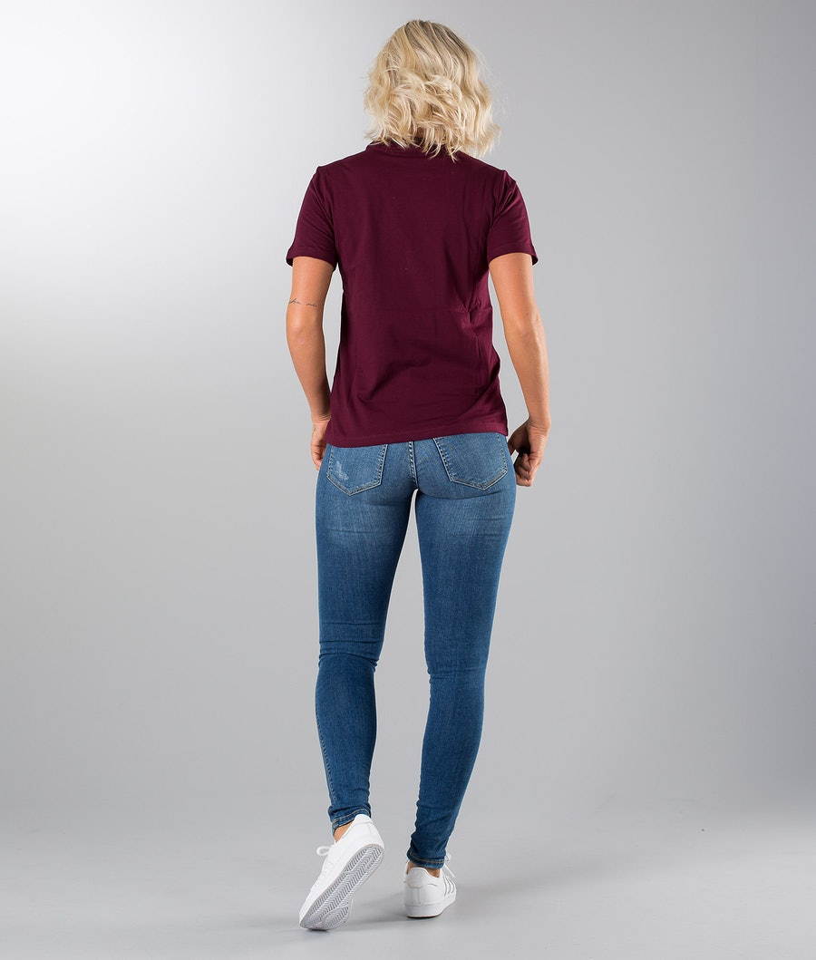 Adidas Originals Trefoil T-shirt Femme Maroon
