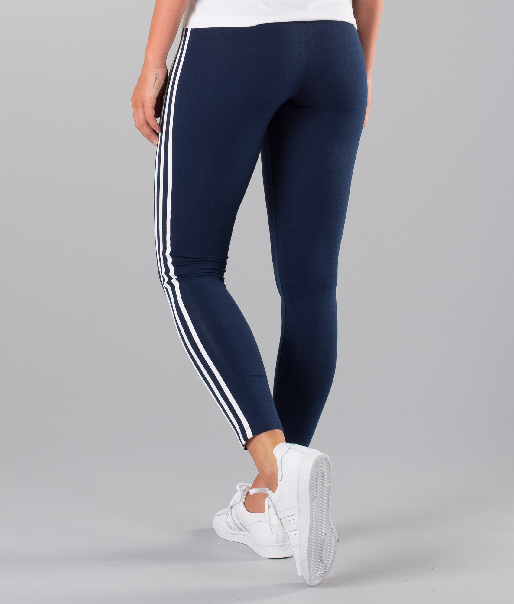Adidas Originals 3 Stripe Leggings Collegiate Navy