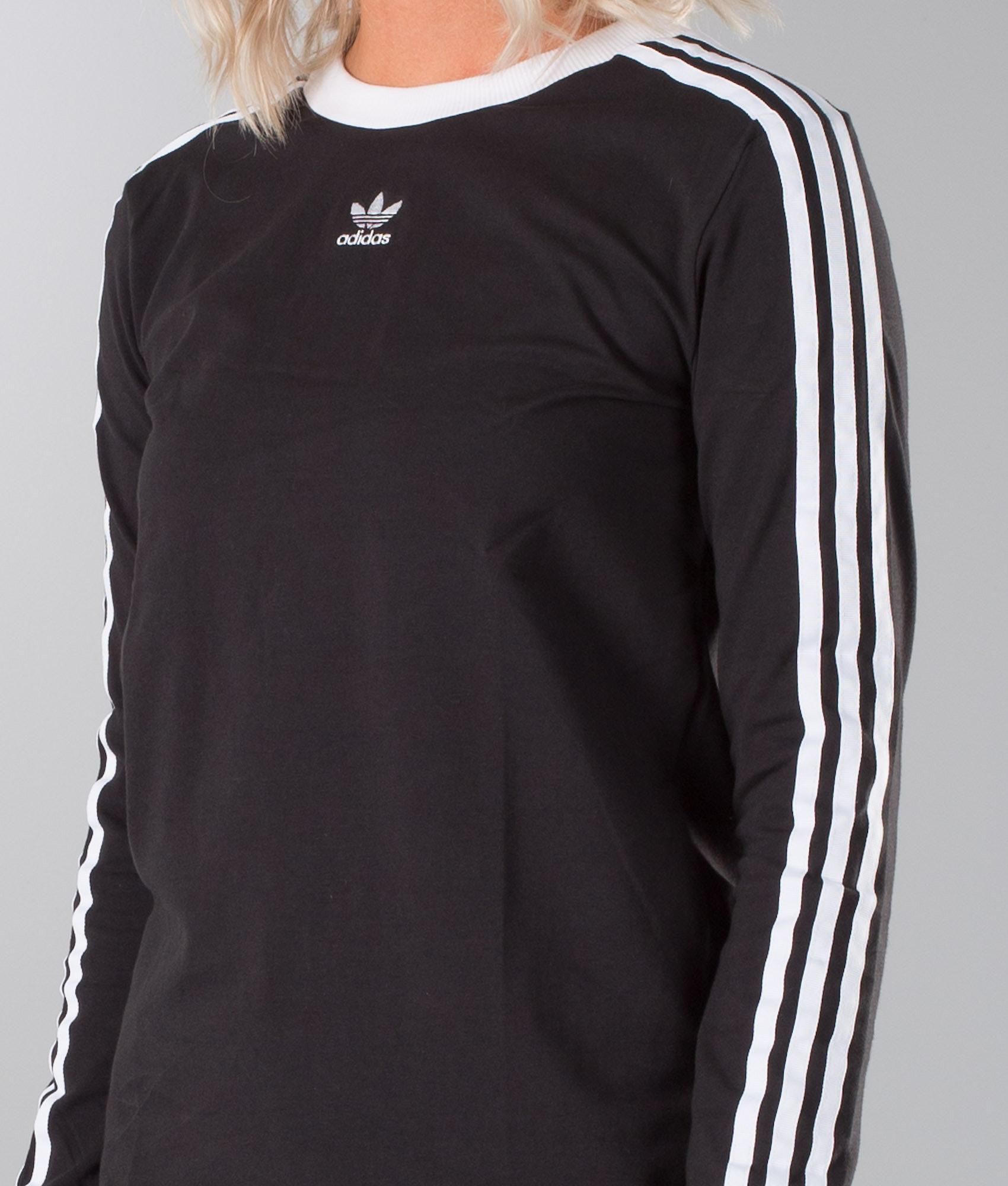 143420150a8da Adidas Originals 3 Stripes Longsleeve Black - Ridestore.com