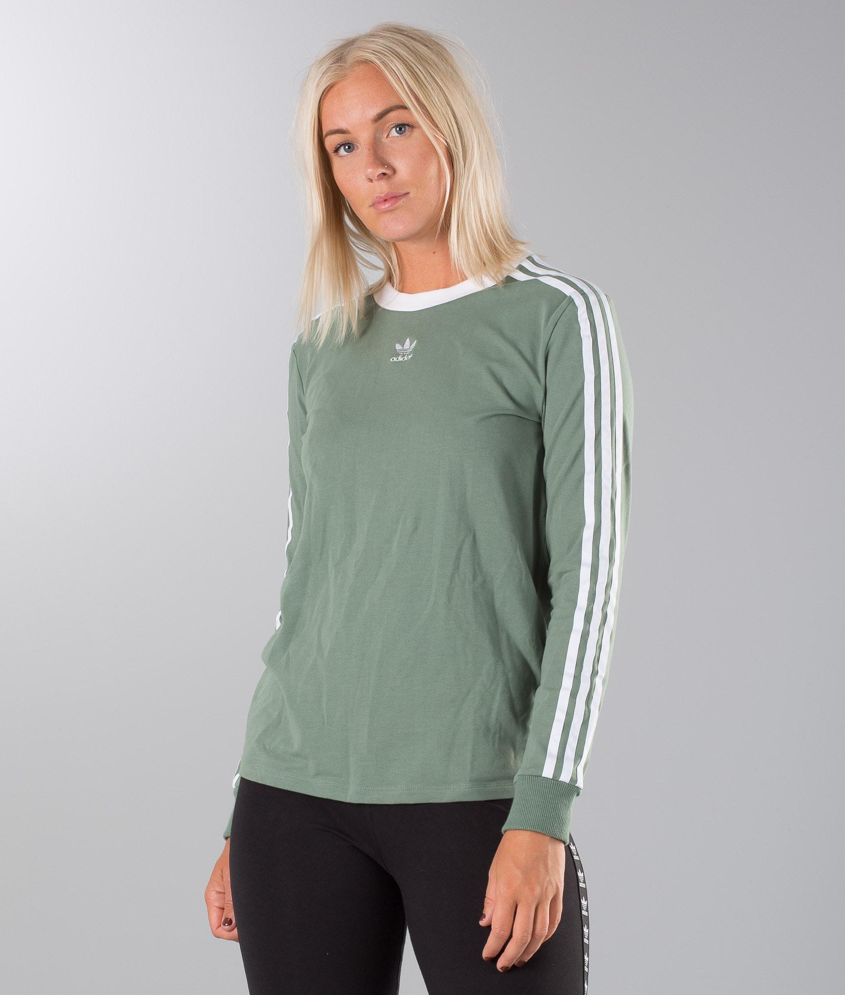 34b5fd3220 Adidas Originals 3 Stripes Longsleeve Trace Green - Ridestore.com