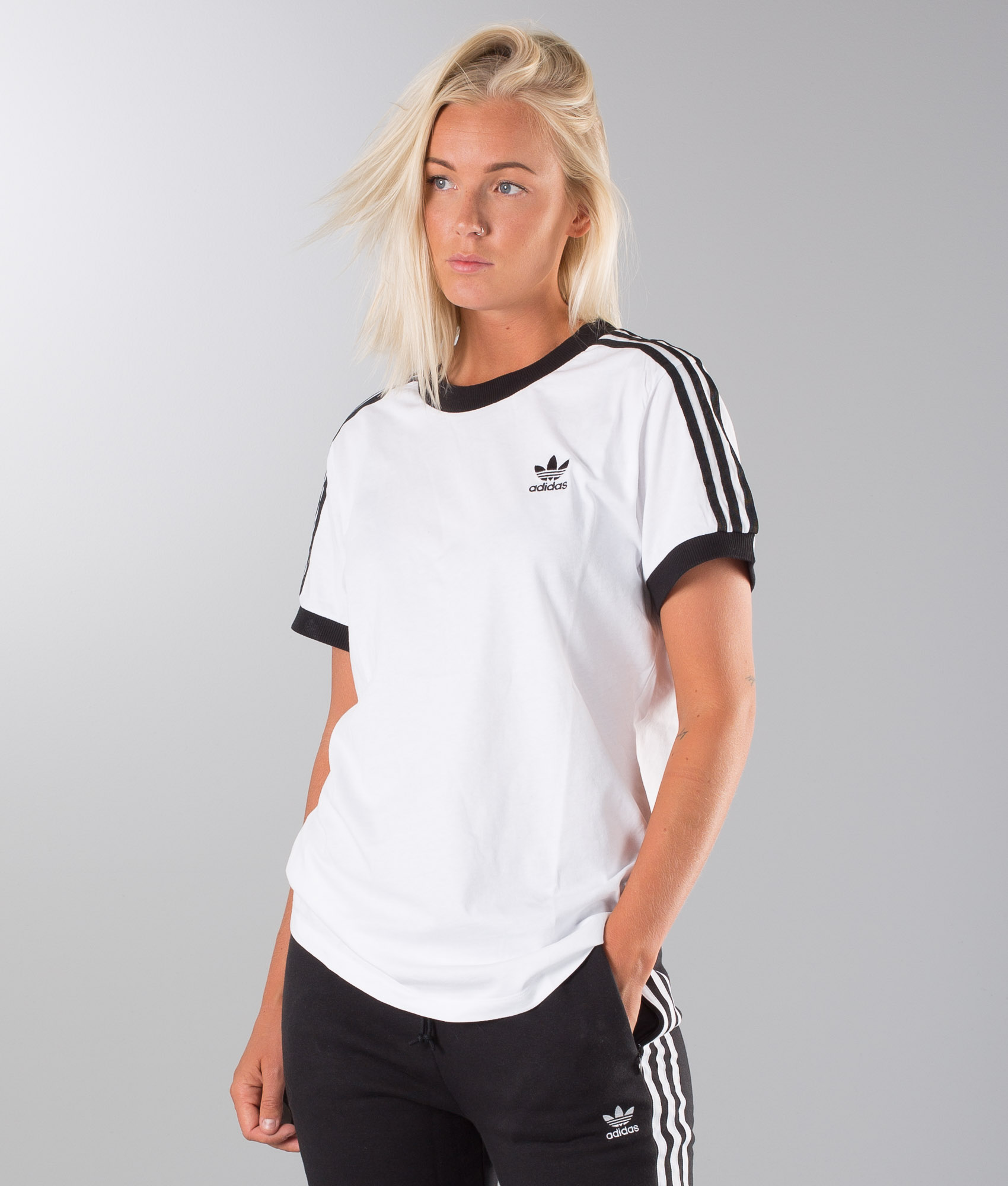 Adidas Originals 3 Stripes T shirt White