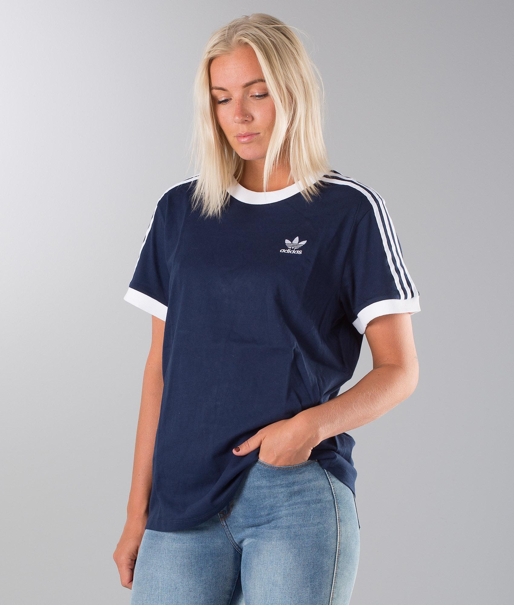 76557a4d Adidas Originals 3 Stripes T-shirt Collegiate Navy - Ridestore.com