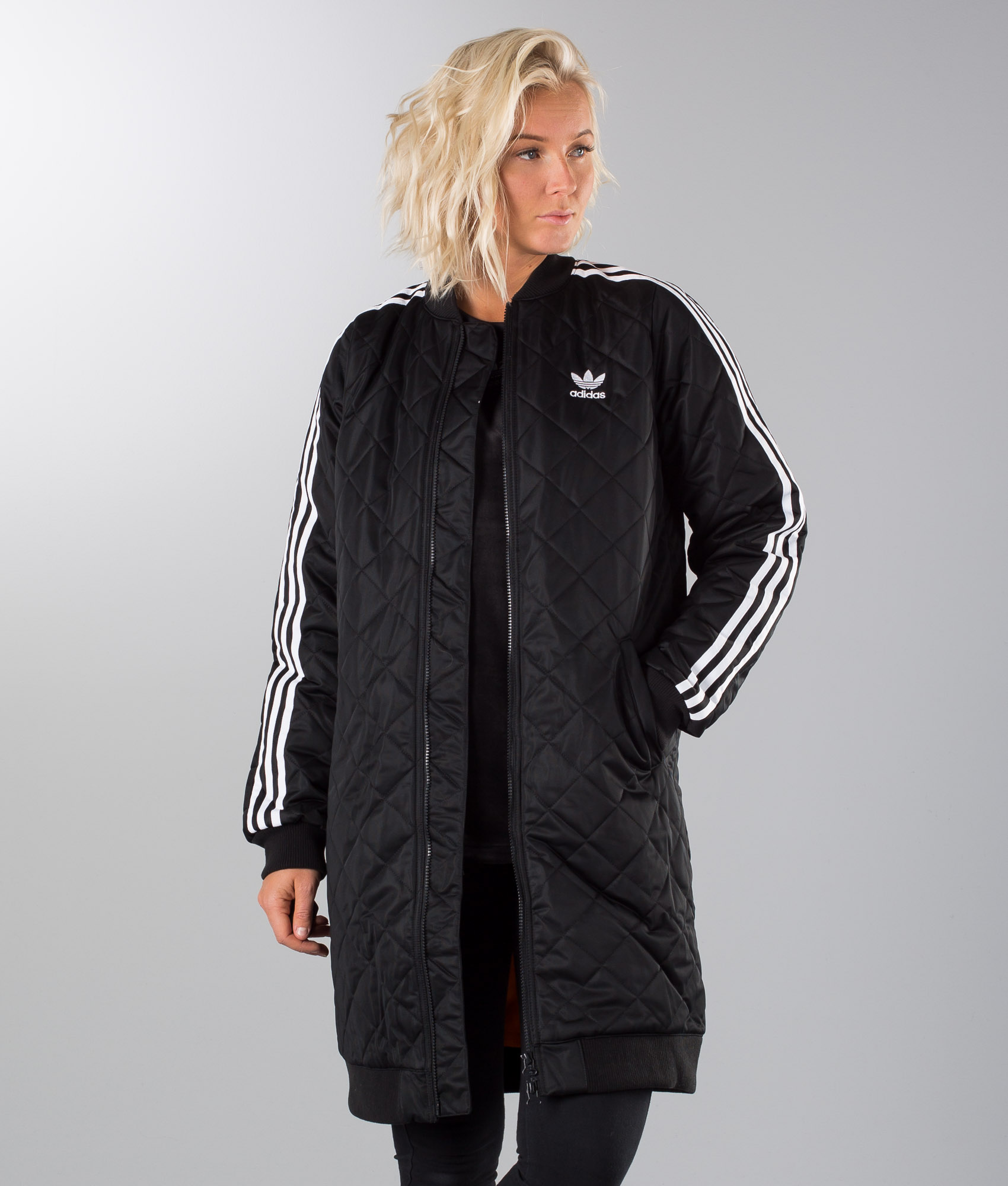 Adidas Originals Long Bomber Jacket Black