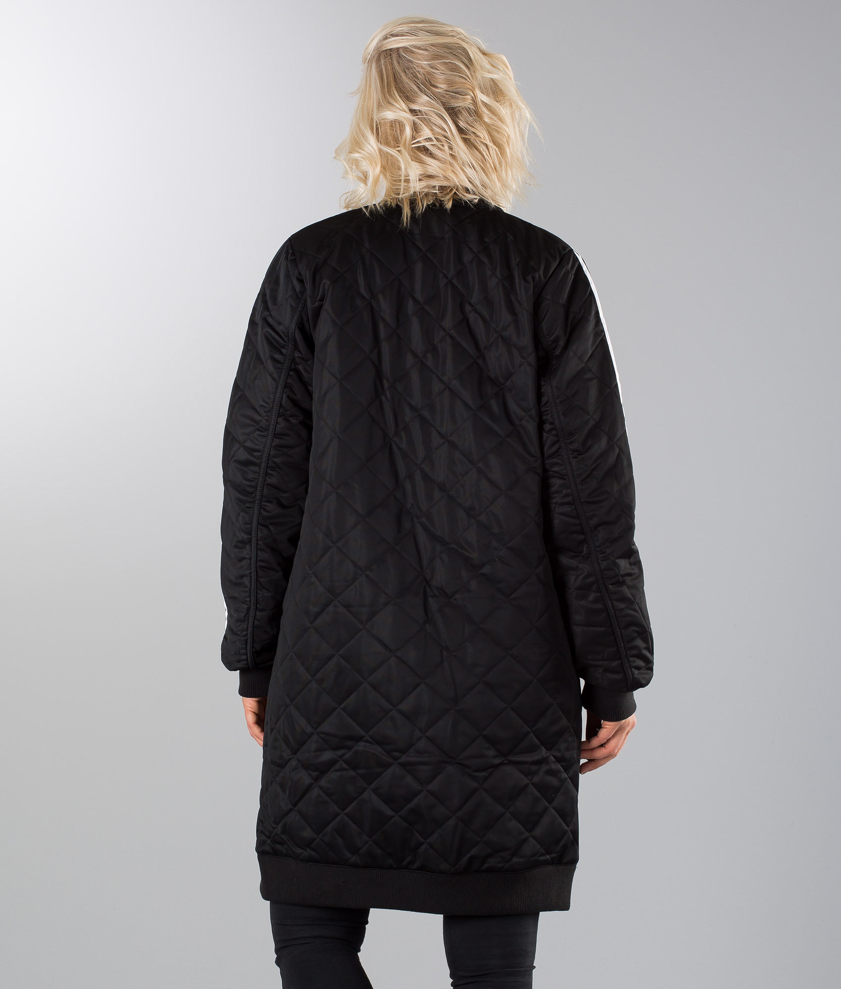 5b2dc22a Adidas Originals Long Bomber Jacket Black - Ridestore.com