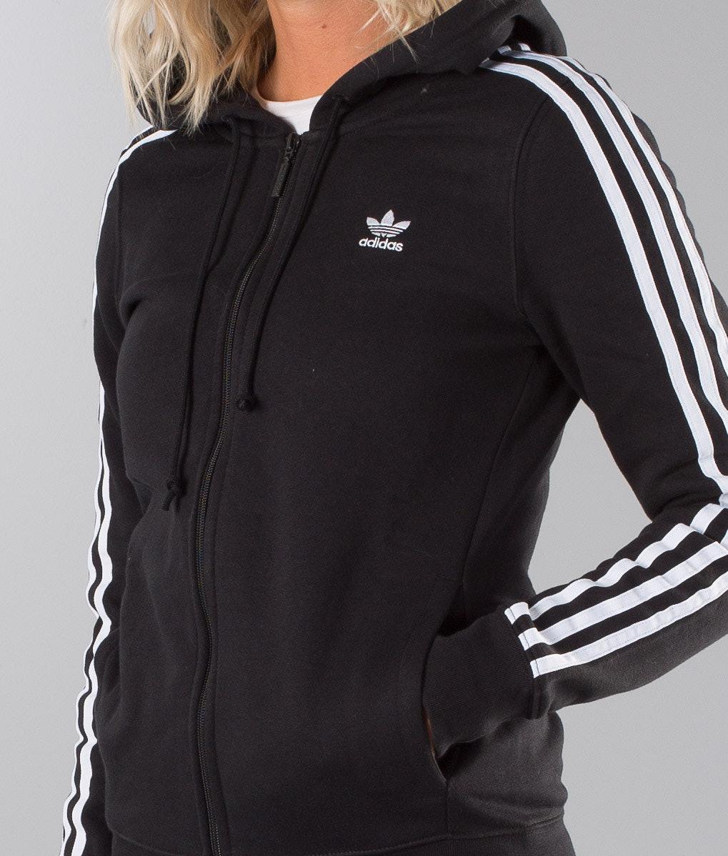 cb7d3c0b Adidas Originals 3Stripe Hoodie Black