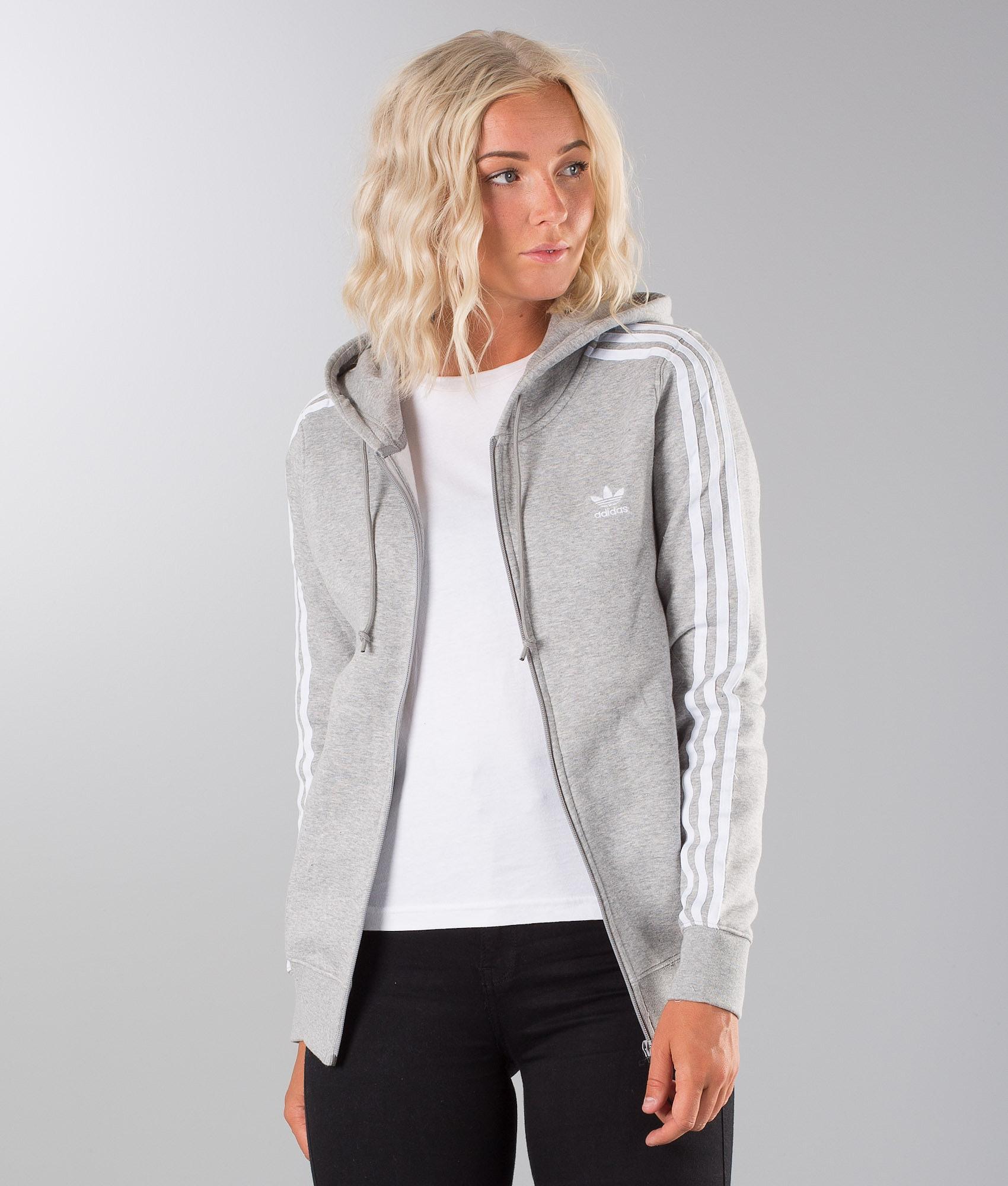 half off various styles picked up Adidas Originals 3Stripe Hoodie Medium Grey Heather