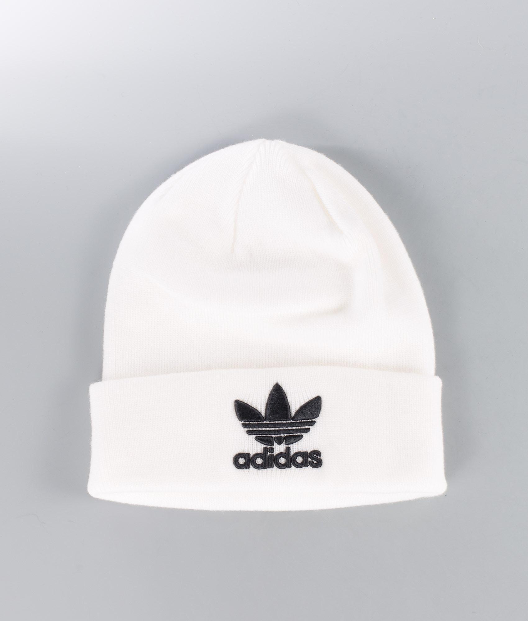 c39da675b0d Adidas Originals Trefoil Beanie White - Ridestore.com