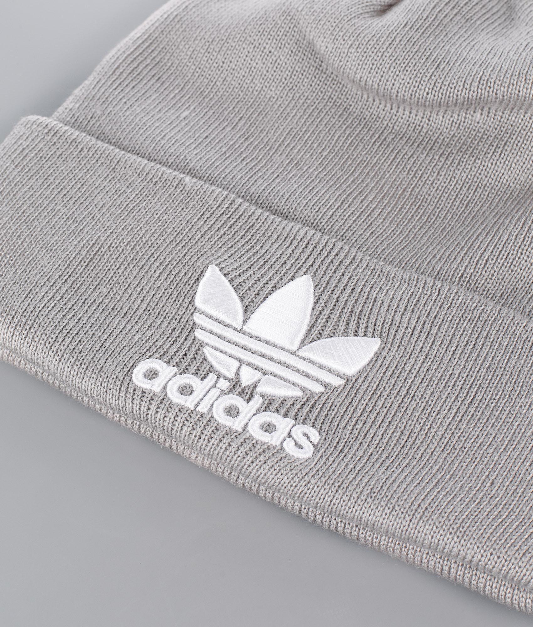 5b4abc46485 Adidas Originals Trefoil Beanie Mgh Solid Grey - Ridestore.com