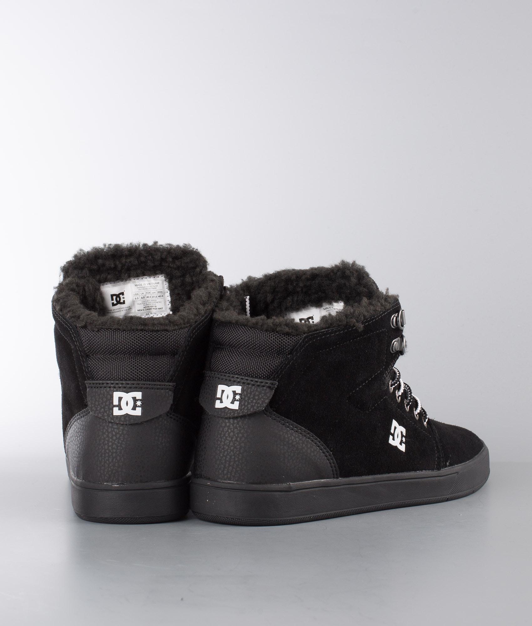 6aef8c1525 DC Crisis High Wnt Shoes Black White Black - Ridestore.com