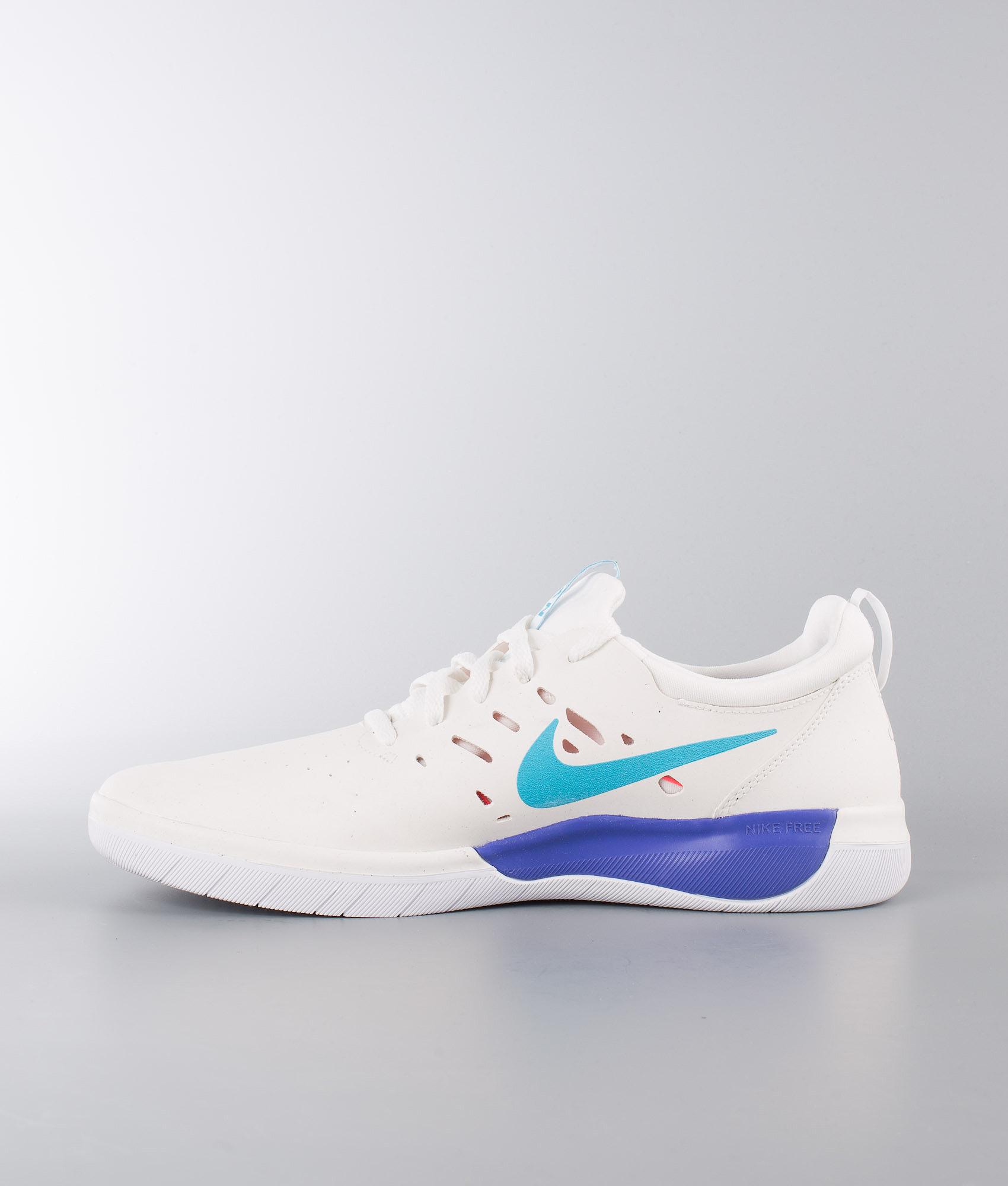 bb948b55a206 Nike Nyjah Free Shoes Summit White Lt Blue Fury-Solar Red ...