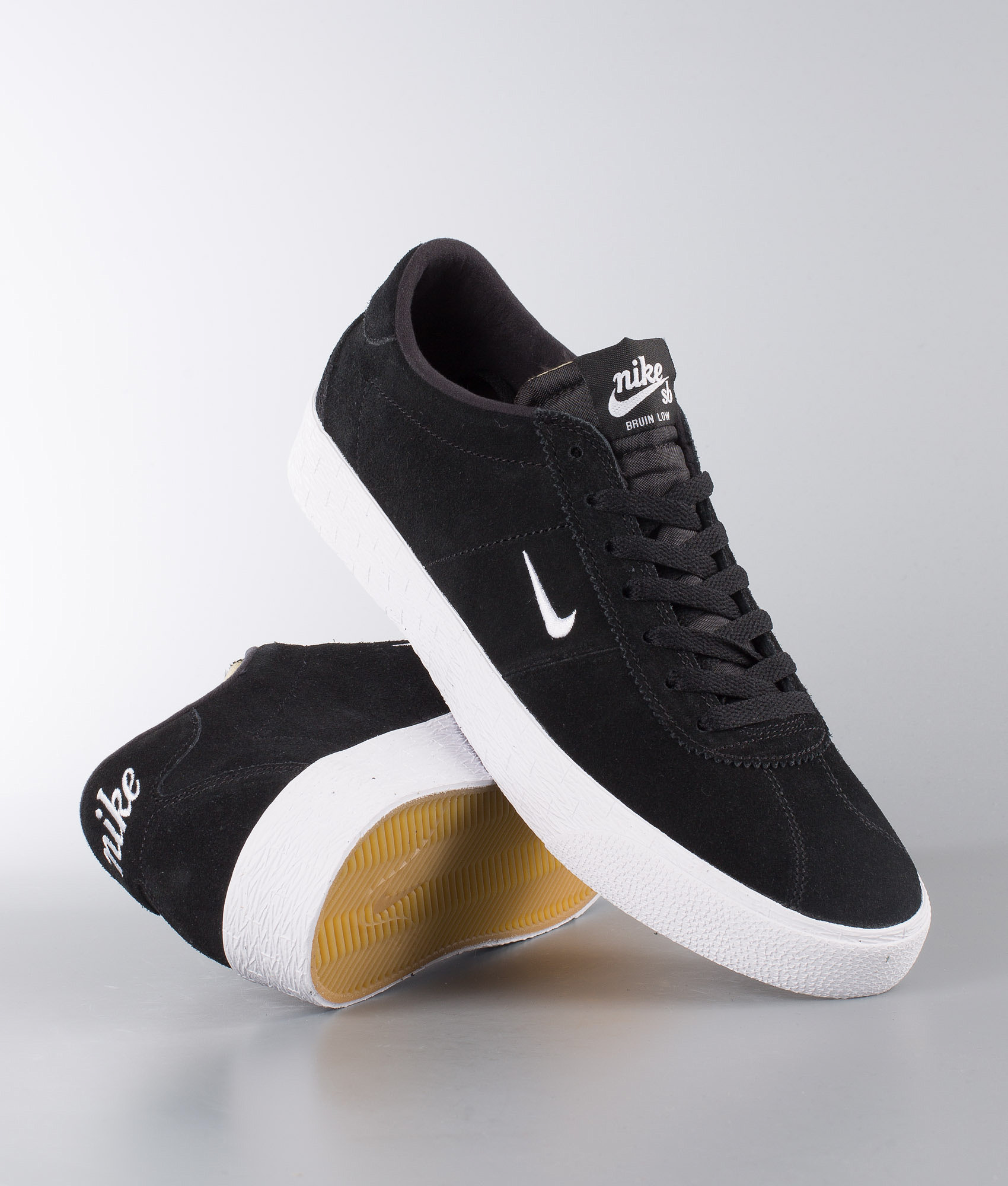 Nike Zoom Bruin Shoes Black White-Gum Light Brown - Ridestore.com 25ff5aa9b47b