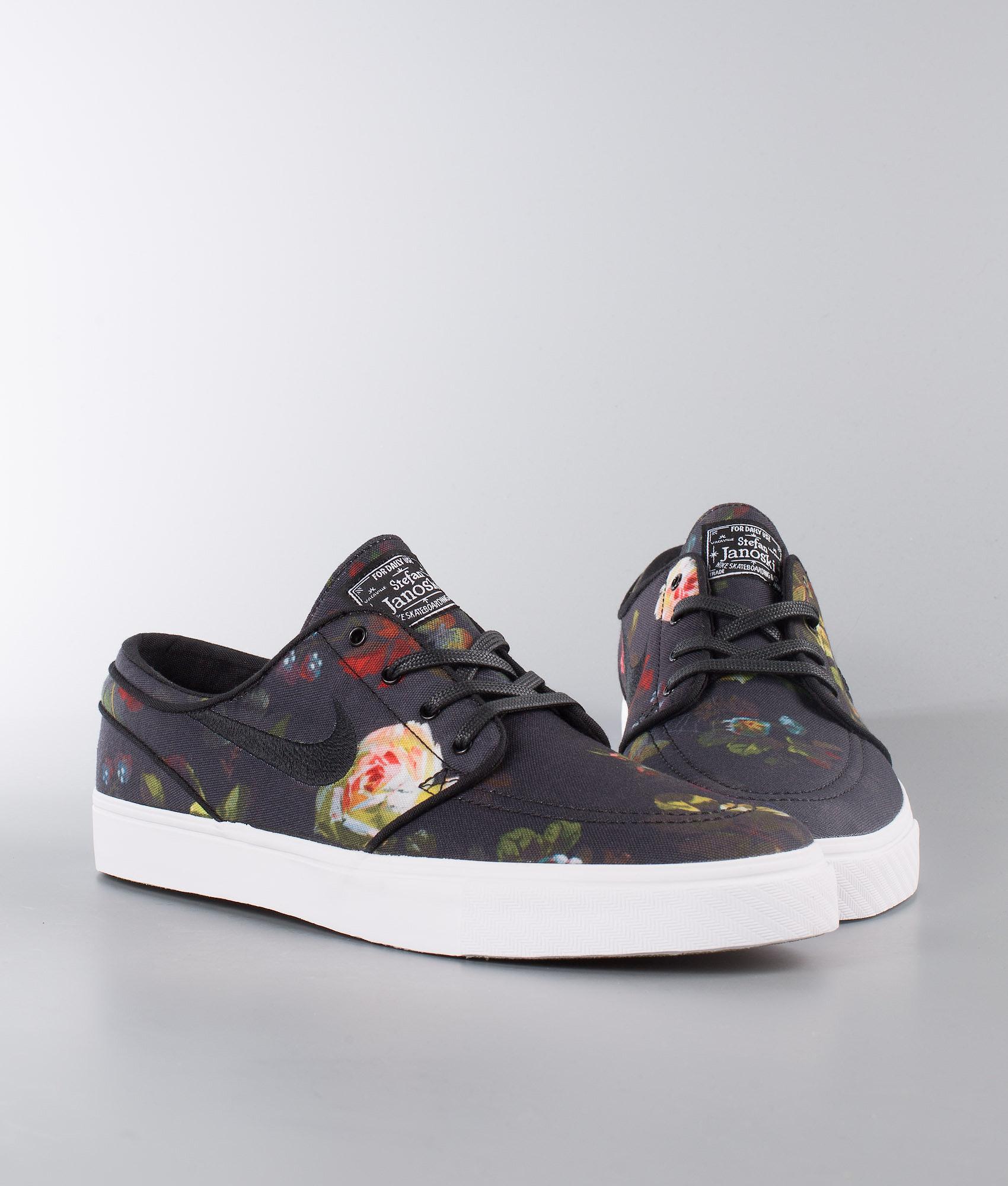 10dc6b12538 Nike Zoom Stefan Janoski Cnvs Shoes Multi-Color Black-White-Gum ...